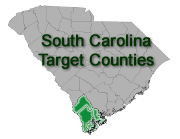 South Carolina Target Counties